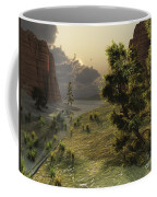 The Trees Are Kissed By Sunlight Coffee Mug