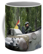 The Turret Of The Leopard 1a5 Mbt Coffee Mug by Luc De Jaeger