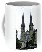 The Twin Spires Of Hof Church In Lucerne Coffee Mug