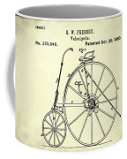 The Velocipede Patent 1880 Coffee Mug