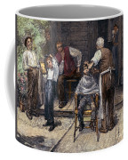 The Village Barber, 1883 Coffee Mug