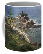 The Village Of Vernazaa On Italys Coffee Mug