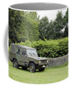 The Vw Iltis Jeep Used By The Belgian Coffee Mug by Luc De Jaeger