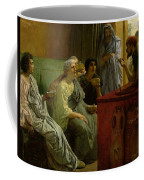 The Wine Shop Coffee Mug by Sir Lawrence Alma-Tadema