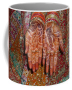 The Wonderfully Decorated Hands And Clothes Of An Indian Bride Coffee Mug