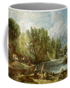 The Young Waltonians - Stratford Mill Coffee Mug by John Constable