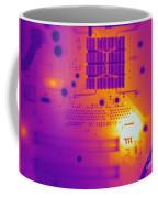 Thermogram Of A Computer Board Coffee Mug