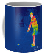 Thermogram Of A Golfer Coffee Mug