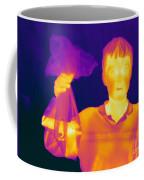 Thermogram Of A Hidden Gun Coffee Mug