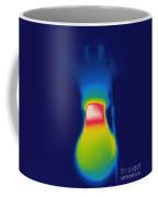 Thermogram Of A Light Bulb Coffee Mug