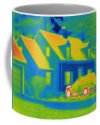 Thermogram Of Car In Front Of A House Coffee Mug