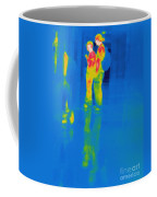 Thermogram Of Students At A Locker Coffee Mug