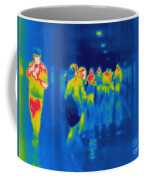Thermogram Of Students In A Hallway Coffee Mug