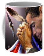They Shall Mount Up With Wings Like Eagles -  President Obama  Coffee Mug by Reggie Duffie