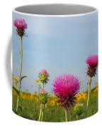 Thistle And Sunflower 2am-110468 Coffee Mug