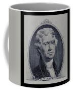 Thomas Jefferson 2 Dollar Bill Portrait Coffee Mug