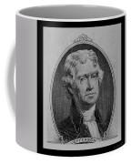Thomas Jefferson In Black And White Coffee Mug