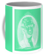 Thomas Jefferson In Negative Green Coffee Mug