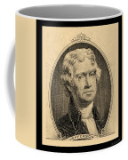 Thomas Jefferson In Sepia Coffee Mug