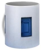 Three Blue Shutters Coffee Mug