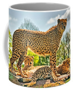 Three Cheetahs Coffee Mug