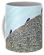 Three Crows And Oyster Shells Coffee Mug