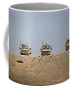 Three M-atvs Guard The Top Of The Wadi Coffee Mug