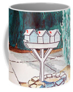 Three Mailboxes Sketchbook Project Down My Street Coffee Mug by Irina Sztukowski