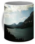 Three Mountains On Many Glacier Lake Coffee Mug