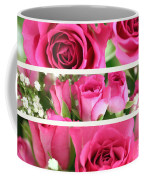 Three Pink Roses Landscape Coffee Mug
