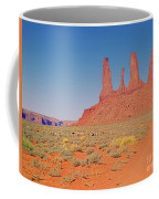 Three Sisters And Grazing Sheep Coffee Mug