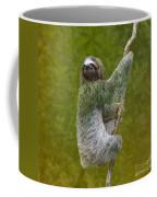 Three-toed Sloth Climbing Coffee Mug by Heiko Koehrer-Wagner