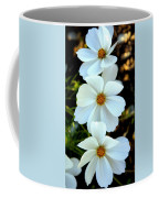 Three White Flowers Coffee Mug