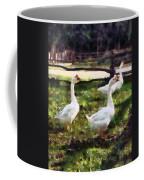 Three White Geese Coffee Mug