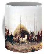 Threshing Wheat In New Mexico Coffee Mug by Thomas Moran