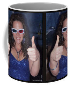 Thumbs Up - Gently Cross Your Eyes And Focus On The Middle Image Coffee Mug
