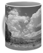 Thunderstorm Clouds Boiling Over The Colorado Rocky Mountains Bw Coffee Mug