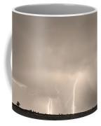 Thunderstorm On The Plains Bw Sepia Coffee Mug