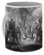 Tiger Hunt, 19th Century Coffee Mug