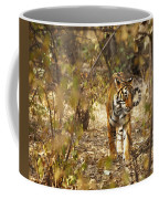 Tiger In The Undergrowth At Ranthambore Coffee Mug