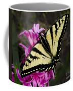 Tiger Swallowtail On Pink Hyacinth Coffee Mug