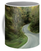 Time-exposed View Of Route 49 Taken Coffee Mug