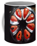 Orange And Black Art -time - Sharon Cummings Coffee Mug