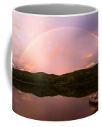 Timing Is Divine Rainbow Over Vermont Mountains Coffee Mug