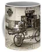 Tiny Biker Sepia Coffee Mug