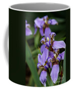 Tiny Purple Iris Coffee Mug