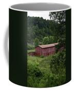 Tobacco Barn From Afar Coffee Mug