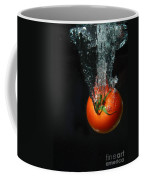 Tomato Falling Into Water Coffee Mug