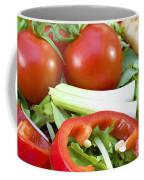 Tomato Salad Close Up Coffee Mug