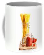 Tomatoes Sauce And  Spaghetti Pasta  Coffee Mug by Amanda Elwell